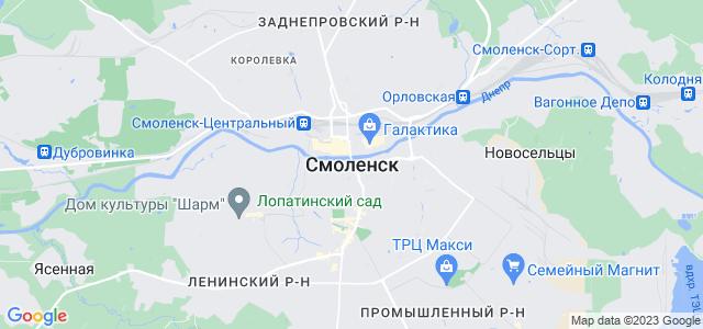 Где на карте россии находится смоленск